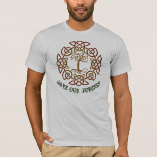 Celtic Circle Tree of Life Forest Conservation T-Shirt