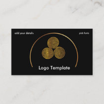 Celtic Circles of Gold Simple Logo