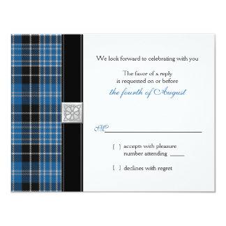 Celtic  Clark Tartan Wedding RSVP Reply Card