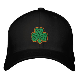 Celtic Clover Embroidered Cap