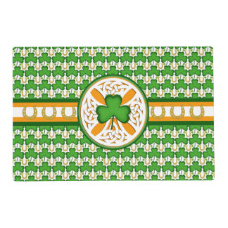 Celtic, clover, horseshoe placemat