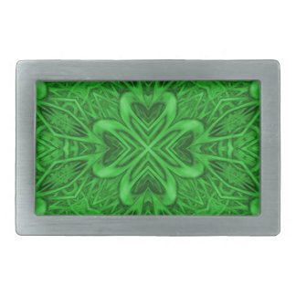 Celtic Clover Kaleidoscope Belt Buckle