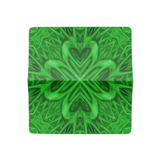 Celtic Clover Kaleidoscope Checkbook Cover