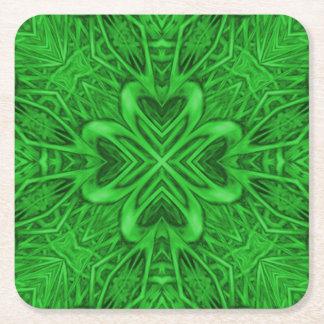 Celtic Clover Kaleidoscope Coasters