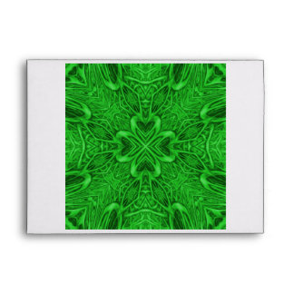 Celtic Clover Kaleidoscope Colorful Envelopes