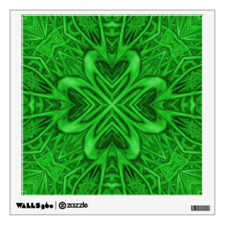 Celtic Clover Kaleidoscope Colorful Wall Decals