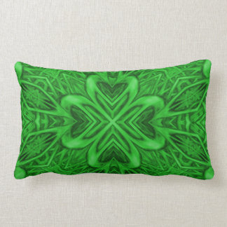 Celtic Clover Kaleidoscope Pattern Lumbar Pillows