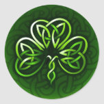 Celtic Clover Knot Design Stickers