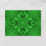 Celtic Clover Pattern  Kaleidoscope Business Cards