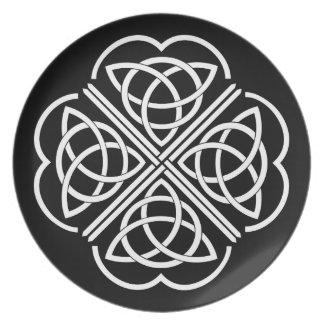 Celtic Clover Plate