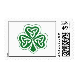 Celtic Clover Postage Stamp