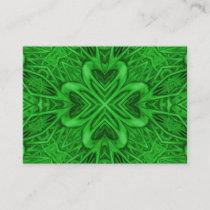 Celtic Clover Vintage Green Fractal Kaleidoscope