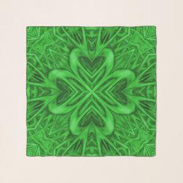 Celtic Clover Vintage Kaleidoscope  Chiffon Scarf