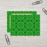 Celtic Clover Vintage Pattern  Business Cards