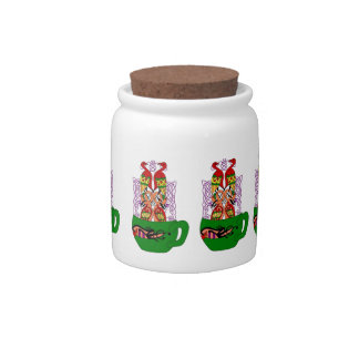 Celtic Coffee Cup Candy Jars