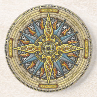 Celtic Compass Coasters