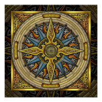 Celtic Compass FIne Art Poster