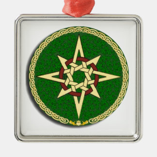 Celtic Compass Template Metal Ornament