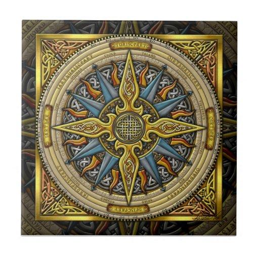 Celtic Compass Tile