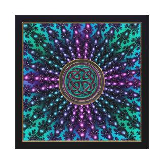 Celtic Cool Radiant Fractal Mandala Canvas Prints