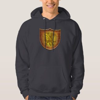 Celtic Copper Dragon Shield Hoodie