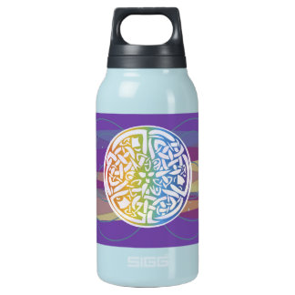 Celtic Cosmos Colorful Knot Symbol Insulated Water Bottle