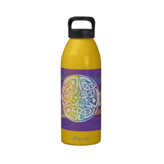 Celtic Cosmos Colorful Knot Symbol Water Bottle