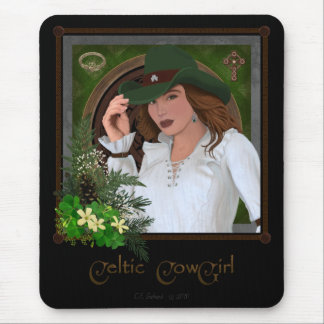 Celtic Cowgirl mousepad (revised)