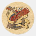 Celtic Creatures Classic Round Sticker