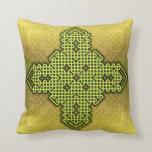 Celtic Cross 10 Gold Throw Pillow