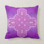 Celtic Cross 10 Purple Throw Pillow