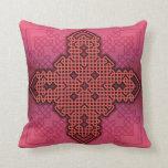 Celtic Cross 10 Red Throw Pillow
