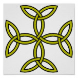 Celtic Cross 11 Gold Posters