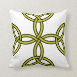 Celtic Cross 11 Gold Throw Pillow