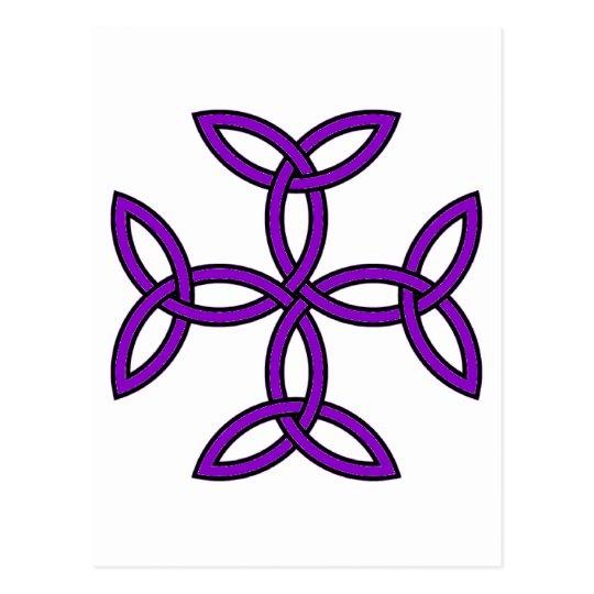 Celtic Cross 11 Purple Postcard