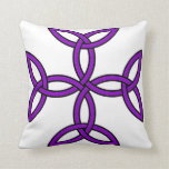 Celtic Cross 11 Purple Throw Pillow