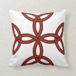 Celtic Cross 11 Red Throw Pillow