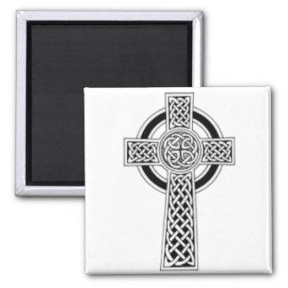Celtic Cross 1 2 Inch Square Magnet