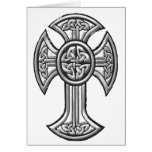 Celtic Cross 2 Black Greeting Card