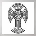 Celtic Cross 2 Black Print