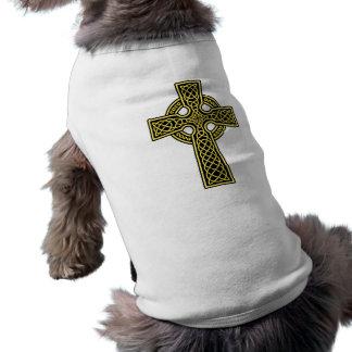 Celtic Cross 2 gold and black Shirt