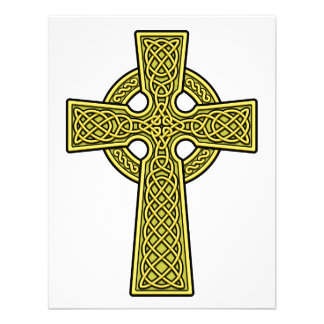 Celtic Cross 2 gold Invitations
