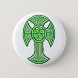 Celtic Cross 2 Green Button