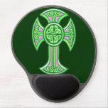 Celtic Cross 2 Green Gel Mouse Pad
