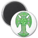 Celtic Cross 2 Green Magnet