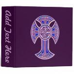 Celtic Cross 2 Purple 3 Ring Binder
