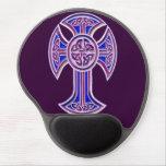 Celtic Cross 2 Purple Gel Mouse Pad