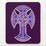 Celtic Cross 2 Purple Mouse Pad