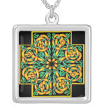 Celtic Cross 2 Silver Plated Necklace