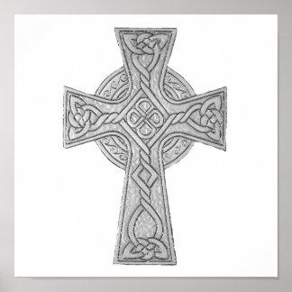 Celtic Cross 3 Black Poster